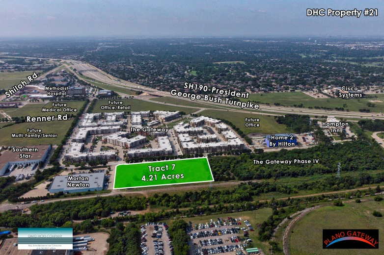 aerial photo tract 7 plano gateway texas